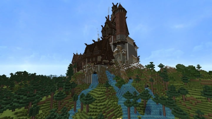 Ravenhold Skyrim inspired project minecraft house castle midevil town download 6
