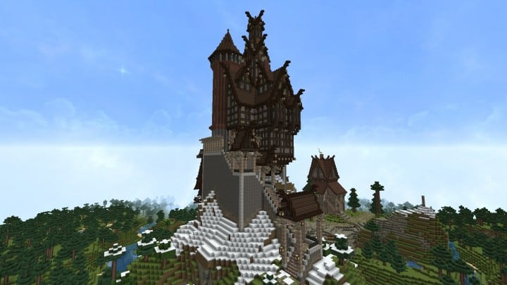 Ravenhold Skyrim inspired project minecraft house castle midevil town download 7