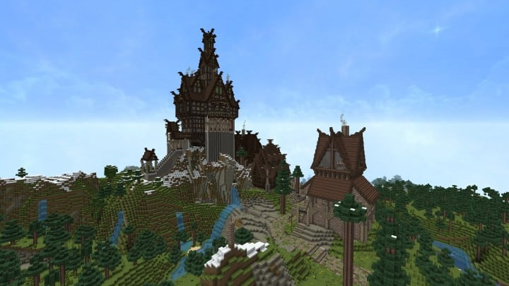 Ravenhold Skyrim inspired project minecraft house castle midevil town download 8