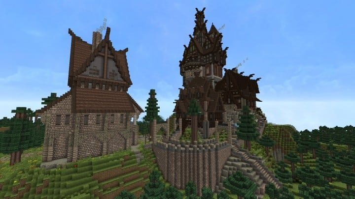 Ravenhold Skyrim inspired project minecraft house castle midevil town download