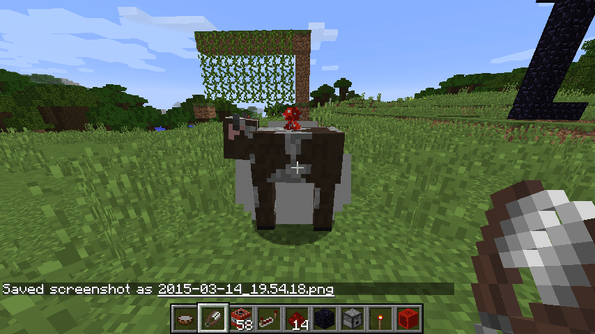 Shearing a mooshroom will turn it into a regular cow, and produce mushrooms.