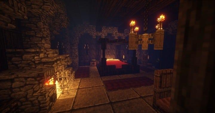 Stonegate Castle Cinematic minecraft building ideas drawbridge mote water terrain 5