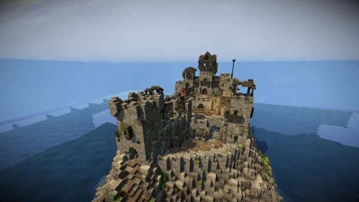 Stonegate Castle Cinematic minecraft building ideas drawbridge mote water terrain 7