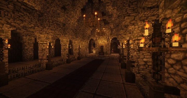 Stonegate Castle Cinematic minecraft building ideas drawbridge mote water terrain 9
