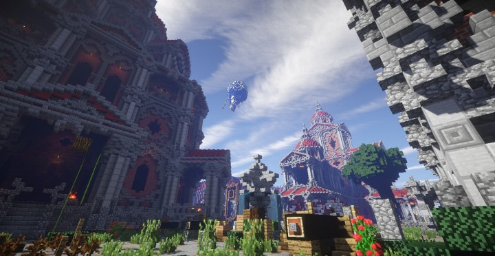 The Baroque Survival Games 32 Players mini minecraft building blueprints design city town villa 10