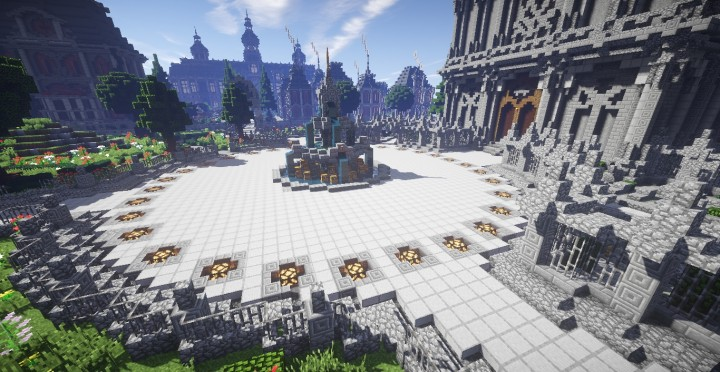 The Baroque Survival Games 32 Players mini minecraft building blueprints design city town villa 13