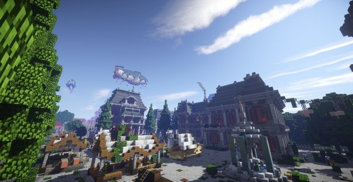 The Baroque Survival Games 32 Players mini minecraft building blueprints design city town villa 15