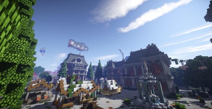The Baroque Survival Games 32 Players mini minecraft building blueprints design city town villa 15