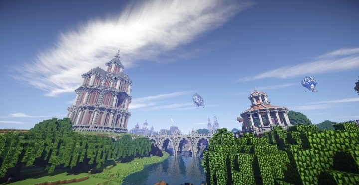 The Baroque Survival Games 32 Players mini minecraft building blueprints design city town villa 18