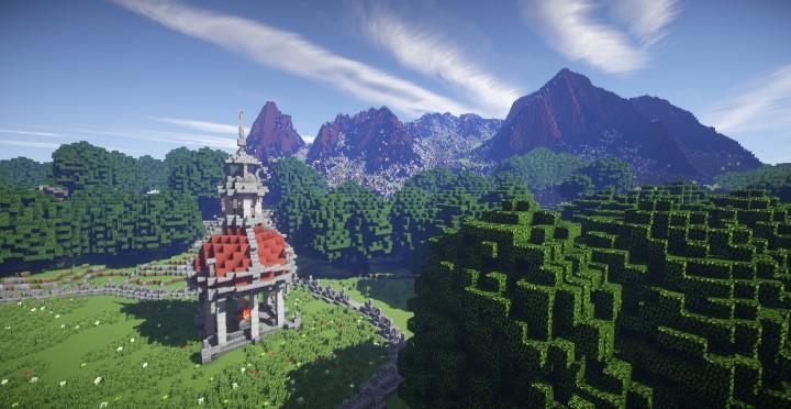 The Baroque Survival Games 32 Players mini minecraft building blueprints design city town villa 19