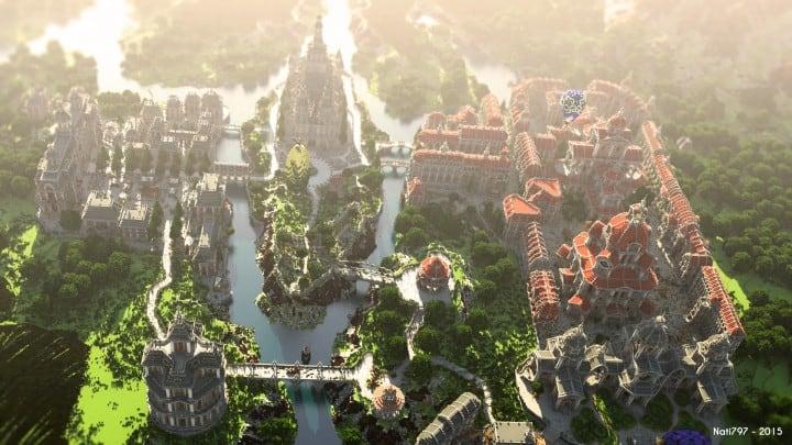 The Baroque Survival Games 32 Players mini minecraft building blueprints design city town villa 2