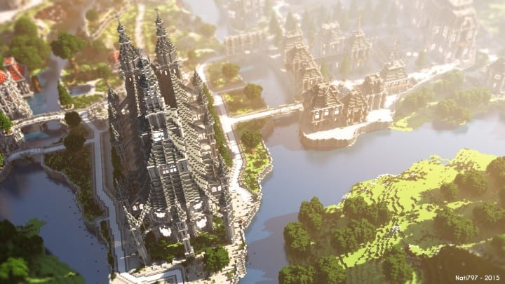 The Baroque Survival Games 32 Players mini minecraft building blueprints design city town villa 3