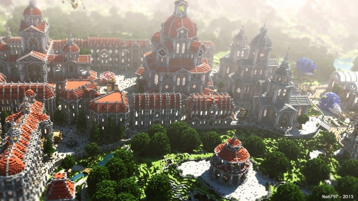 The Baroque Survival Games 32 Players mini minecraft building blueprints design city town villa 4