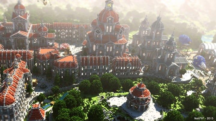 The Baroque Survival Games 32 Players mini minecraft building blueprints design city town villa 4