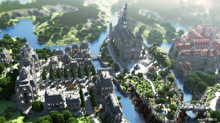 The Baroque Survival Games 32 Players mini minecraft building blueprints design city town villa 5
