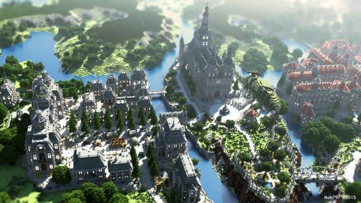 The Baroque Survival Games 32 Players mini minecraft building blueprints design city town villa 5