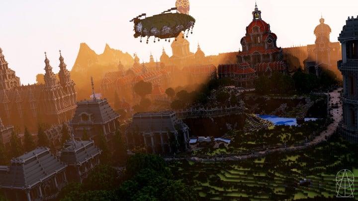 The Baroque Survival Games 32 Players mini minecraft building blueprints design city town villa 6