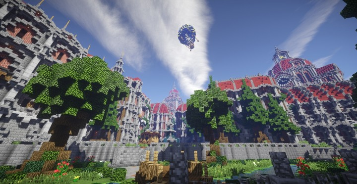 The Baroque Survival Games 32 Players mini minecraft building blueprints design city town villa 7