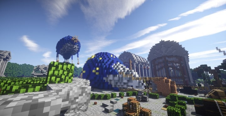 The Baroque Survival Games 32 Players mini minecraft building blueprints design city town villa 9