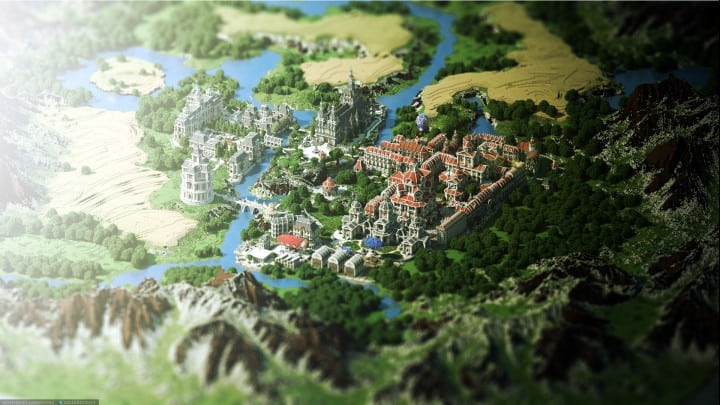 The Baroque Survival Games 32 Players mini minecraft building blueprints design city town villa