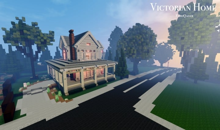 Victorian Home WoK minecraft building ideas house interior finished country porch