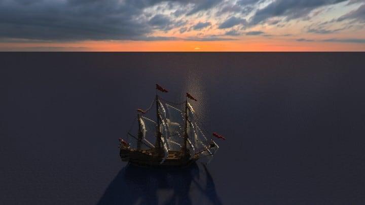 Wapen von Hamburg Full interior build  World DL minecraft building ideas sea ship boat sails 4