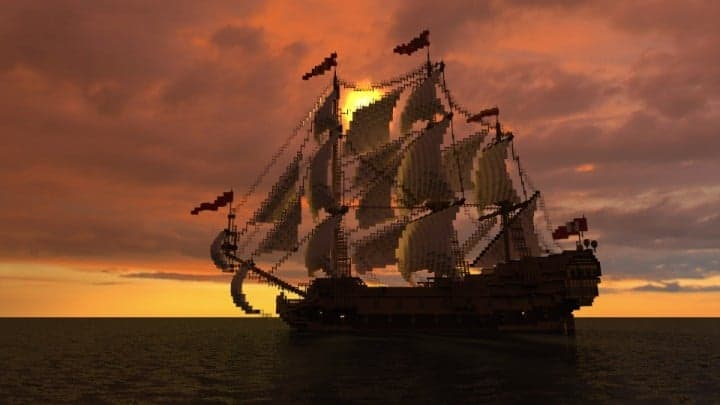 Wapen von Hamburg Full interior build  World DL minecraft building ideas sea ship boat sails 5