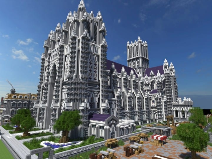 XVII Century Cathedral & City minecraft catle download city village 2