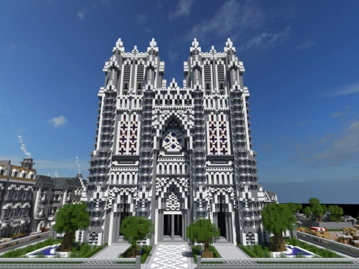 XVII Century Cathedral & City minecraft catle download city village 3