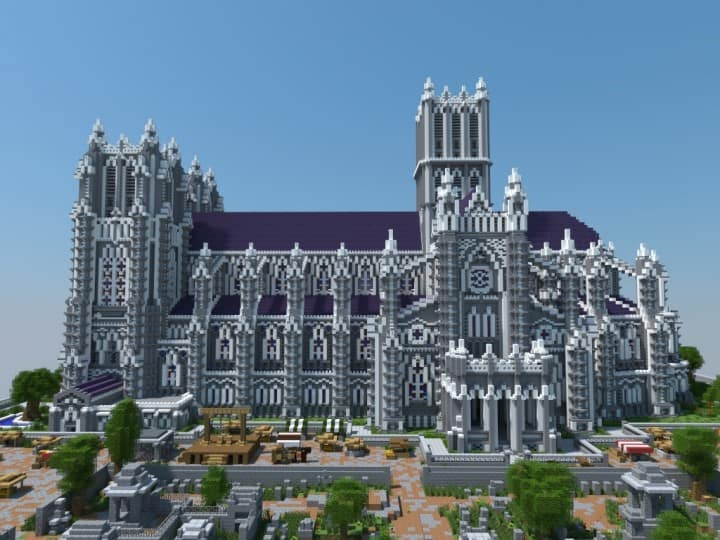 XVII Century Cathedral u0026 City minecraft catle download city village 4