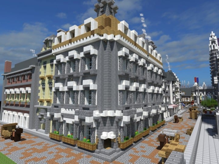 XVII Century Cathedral & City minecraft catle download city village 5