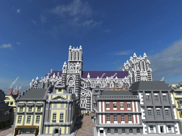 XVII Century Cathedral & City minecraft catle download city village 6
