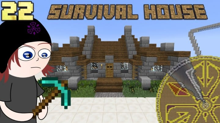 survival house tutorial how to cheap minecraft building ideas wood and stone