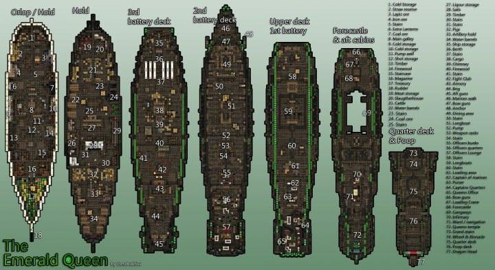 1st rate Pirate Galleon full interior download minecraft sea 2