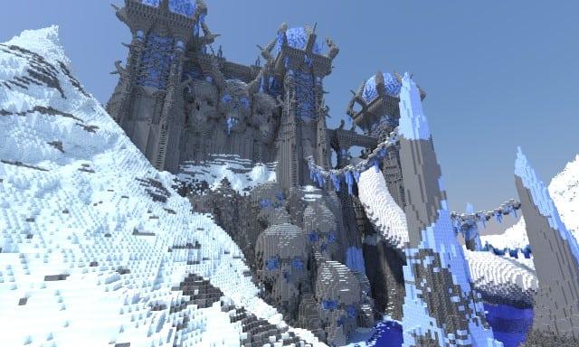Akul Kala frozen castle mote ice minecraft building ideas 2
