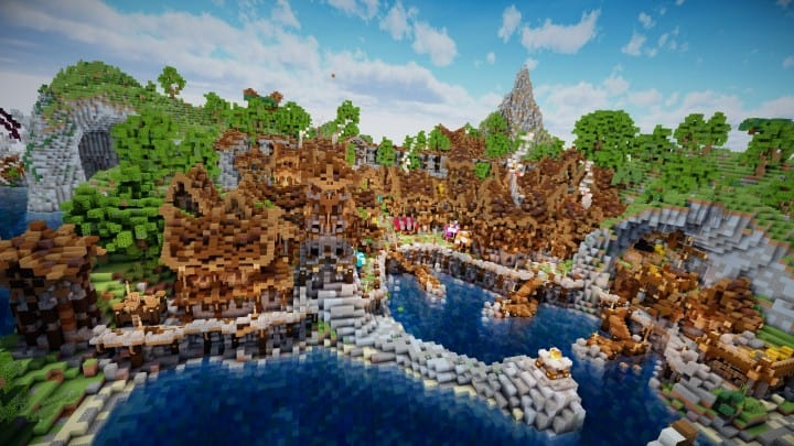 Aranel The Lost Island well built minecraft building ideas 02