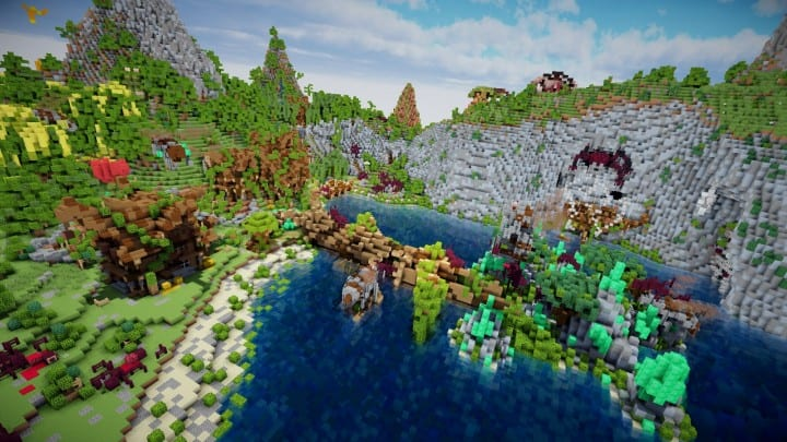 Aranel The Lost Island well built minecraft building ideas 05