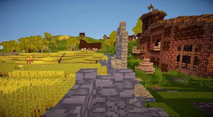 Bree Settlement of Men lotr minecraft build village download vidoe 15