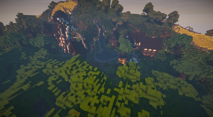 Bree Settlement of Men lotr minecraft build village download vidoe 6