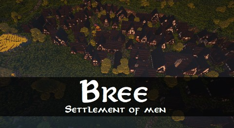 Bree Settlement of Men lotr minecraft build village download vidoe