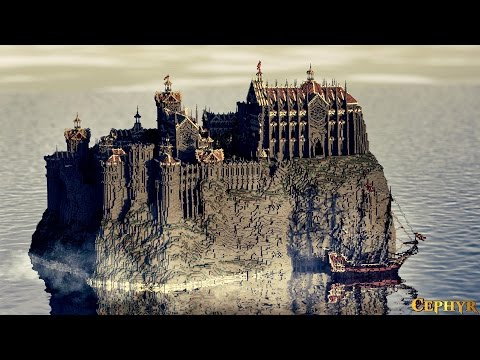 Castillo - Isla Alta minecraft building ideas blueprints video download  01