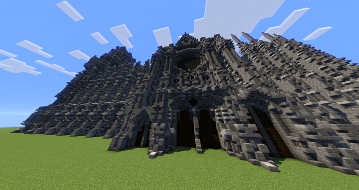 Erisia cathedral  A Gothic Cathedral minecraft build ideas 10