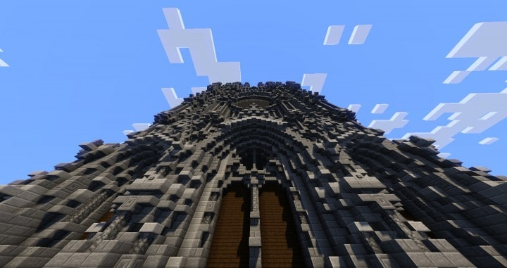 Erisia cathedral  A Gothic Cathedral minecraft build ideas 11