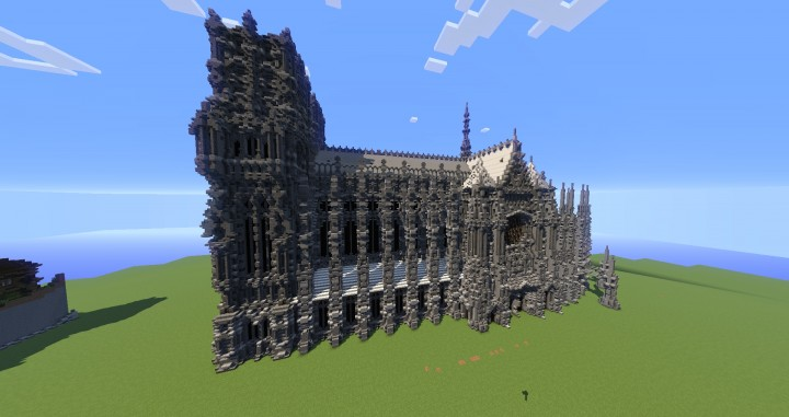 Erisia cathedral  A Gothic Cathedral minecraft build ideas 3