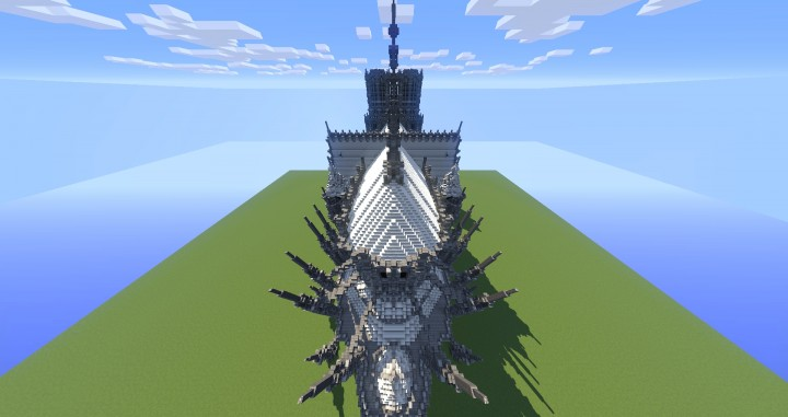 Erisia cathedral  A Gothic Cathedral minecraft build ideas 5