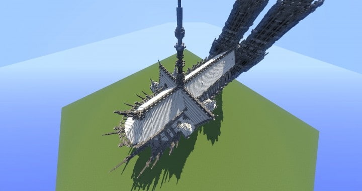 Erisia cathedral  A Gothic Cathedral minecraft build ideas 6