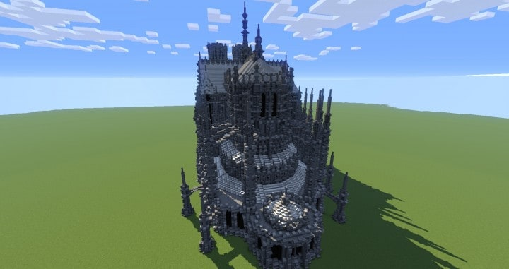 Erisia cathedral  A Gothic Cathedral minecraft build ideas 7