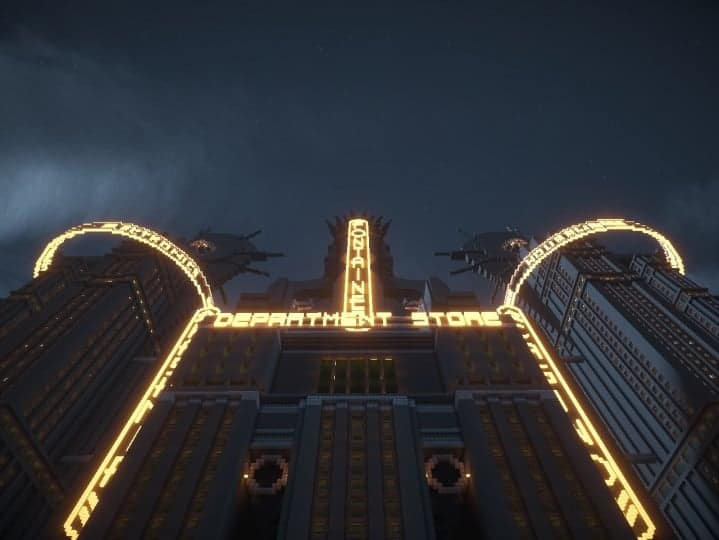 Fontaines Department Store bioshock skyscraper amazing huge building minecraft idea 3