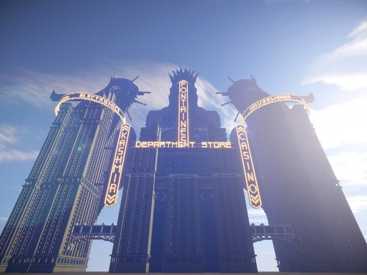 Fontaines Department Store bioshock skyscraper amazing huge building minecraft idea 8