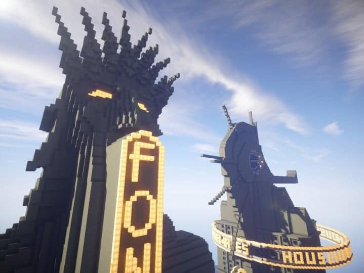 Fontaines Department Store bioshock skyscraper amazing huge building minecraft idea 9